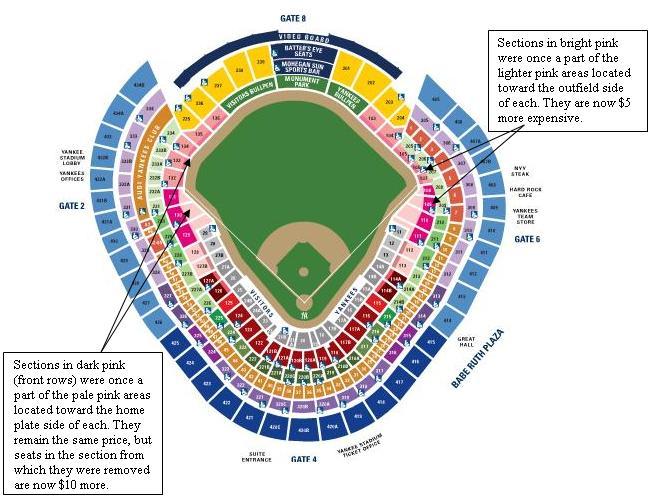 Yankee Stadium Seating Chart Rows - New york yankees yankee ...